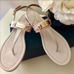 Coach nude and gold caterine sandals